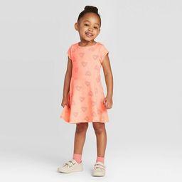 Toddler Girls' Heart Dress - Cat & Jack™ Peach | Target