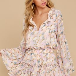 Always Say Yes Light Pink Multi Print Dress   Red Dress