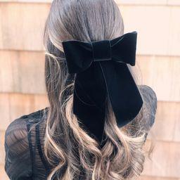 Black Velvet Hair Bow, Large Brigitte Bardot Black Velvet Hair Bow Barrette, Big Velvet Hair Bow,... | Etsy (US)