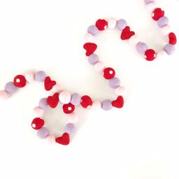 Valentine's Day Felt Ball Garland | Felt Hearts | Heart Garland | Valentine's Day Decorations | V... | Etsy (US)