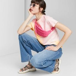 Women's Short Sleeve Tie-Dye Relaxed T-Shirt - Wild Fable™ Pink   Target