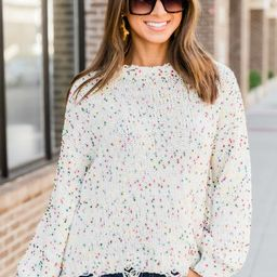 Can't Doubt My Love Oatmeal Sweater CLEARANCE   The Pink Lily Boutique