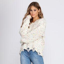 Cozy Cute Confetti Knit Sweater   Windsor Stores