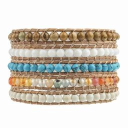 Turquoise, Howlite, and Mixed Jade on Natural | Victoria Emerson