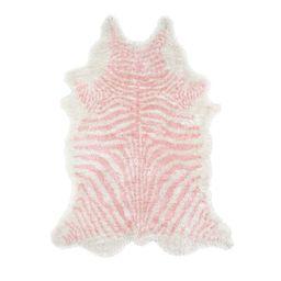 Khalhari Hand-Tufted Faux Fur Pink Area Rug | Wayfair North America