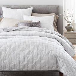 Organic Washed Cotton Percale Reversible Quilt & Shams - Slate | West Elm (US)