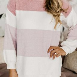 Song In Your Heart Pink Colorblock Sweater   The Pink Lily Boutique