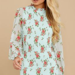 No Greater Love Mint Floral Print Dress | Red Dress