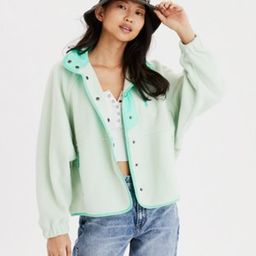 AE Fleece Snap Front Jacket | American Eagle Outfitters (US & CA)
