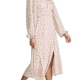 Liza Long Sleeve Smocked Midi Dress | Shopbop