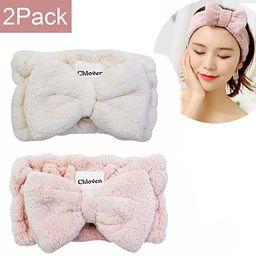 Chloven 2 Pack Microfiber Bowtie Headbands Facial Makeup Headband Cosmetic Bowknot Hairlace Wash ... | Amazon (US)