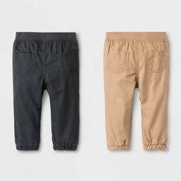 Baby Boys' Woven Chino Pull-On Pants - Cat & Jack™ Brown/Black | Target