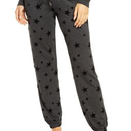 Lounge in laid-back style with these fleece joggers featuring a flocked star print. | Nordstrom