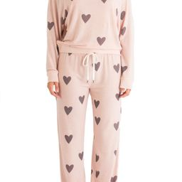 These soft brushed-jersey pajamas will not have to invite you twice to enjoy their luxe, lounge-a... | Nordstrom