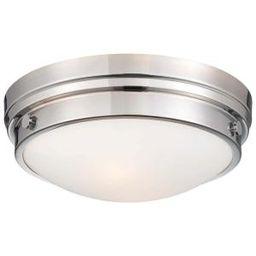 Minka Lavery 2-Light Chrome Flush Mount-823-77 - The Home Depot   The Home Depot