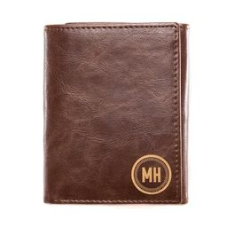 Personalized Trifold Wallet: Circle   Swanky Badger