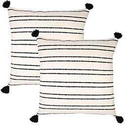 Woven Nook Decorative Throw Pillow Euro Size Covers ONLY Set of 2 24 x 24'' for Couch, Sofa, or B... | Amazon (US)