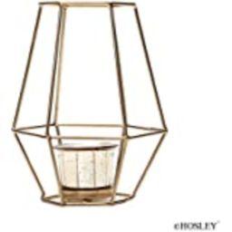 Nuptio 2 Pcs Metal Hexagon Shaped Geometric Design Tea Light Votive Candle Holders, Iron Hollow T... | Amazon (US)