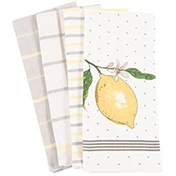 Pantry Lemon Kitchen Dish Towel Set of 4, 100-Percent Cotton, 18 x 28-inch | Amazon (US)