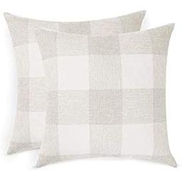 Volcanics Buffalo Check Plaid Throw Pillow Covers Set of 2 Farmhouse Decorative Square Pillow Cov... | Amazon (US)