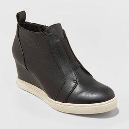 Women's Kolie Microsuede Wedge Sneakers - A New Day™ | Target