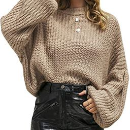 Simplee Women's Casual Long Sleeve Loose Pullover Knit Sweater Jumper Top | Amazon (US)