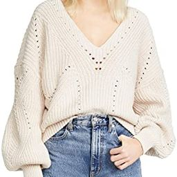 Free People Women's All Day Long V Neck Sweater | Amazon (US)