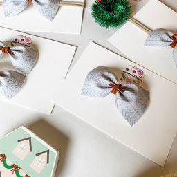 Grey Sweater. Newborn-preteen hair bow. clip/headband/pigtails/bow tie. nylon headband. alligator... | Etsy (US)