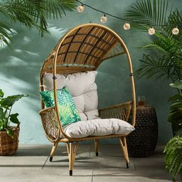 Molly Outdoor Standing Basket Chair with Cushion   Molly Outdoor Wicker Standing Patio Chair with...   Wayfair North America