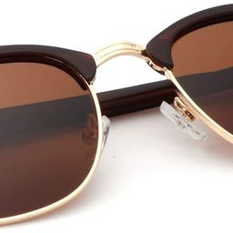 Polarized Sunglasses for Men and Women Semi-Rimless Frame Driving Sun glasses 100% UV Blocking | Amazon (US)