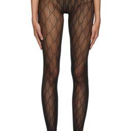 GucciBlack GG Tights192451F076010$120 USDSheer stretch nylon jersey tights in black. Tonal logo p... | SSENSE