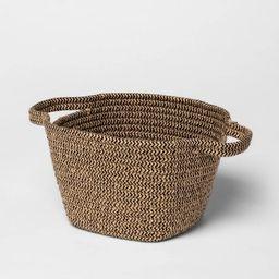 Small Jute Rope Basket Black/Natural - Threshold™ | Target