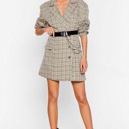 I'll Get the Check Oversized Blazer Dress | NastyGal (US & CA)