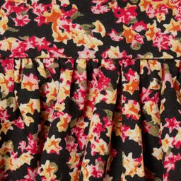 Flared, calf-length skirt in woven cotton fabric with a printed pattern. High waist and concealed... | H&M (US)