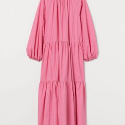 Relaxed-fit, calf-length dress in airy, woven cotton fabric. Round neckline, opening at back of n... | H&M (US)