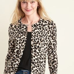 Printed Crew-Neck Cardi for Women | Old Navy (US)