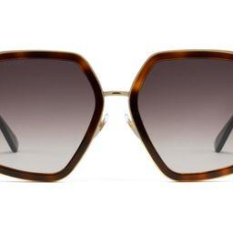 Oversize square-frame metal sunglasses | Gucci (US)