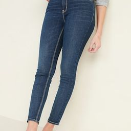High-Waisted Dark-Wash Rockstar Super Skinny Jeans for Women | Old Navy (US)