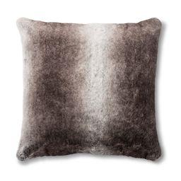 Neutral Faux Fur Euro Pillow - Fieldcrest , Adult Unisex   Target