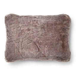 "Faux Fur Oblong Throw Pillow (14""""x20"""") - Threshold™   Target"