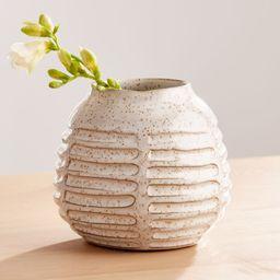 Mara Cream Vase Small + Reviews | Crate and Barrel | Crate & Barrel