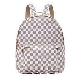 Daisy Rose - Daisy Rose Checkered Backpack bag - Luxury PU Vegan Leather (Cream) - Walmart.com   Walmart (US)