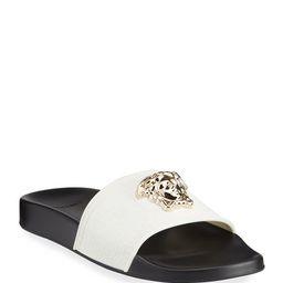 Versace Medusa Pool Slide Sandals   Neiman Marcus