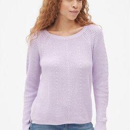 Vintage Wash Diagonal Ribbed Pullover Sweater   Gap US