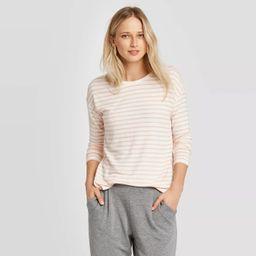 Women's Striped Long Sleeve Crewneck T-Shirt - A New Day™   Target