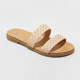 Women's Winnie Two Band Studded Slide Sandals - A New Day™ | Target