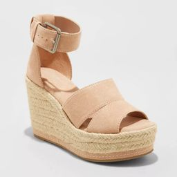Women's Caroline Microsuede Ankle Strap Espadrille Wedge Pumps - Universal Thread™ | Target