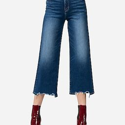 Flying Monkey Super High Waisted Wide Leg Cropped Jeans | Express