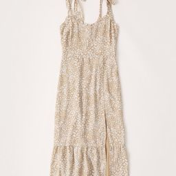 Tiered-Hem Midi Dress   Abercrombie & Fitch US & UK