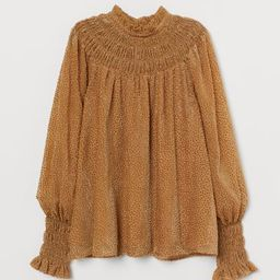 Burnout-patterned Blouse | H&M (US)